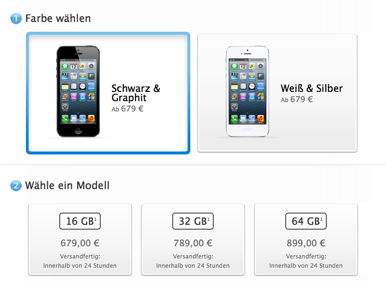 iPhone 5 Preise